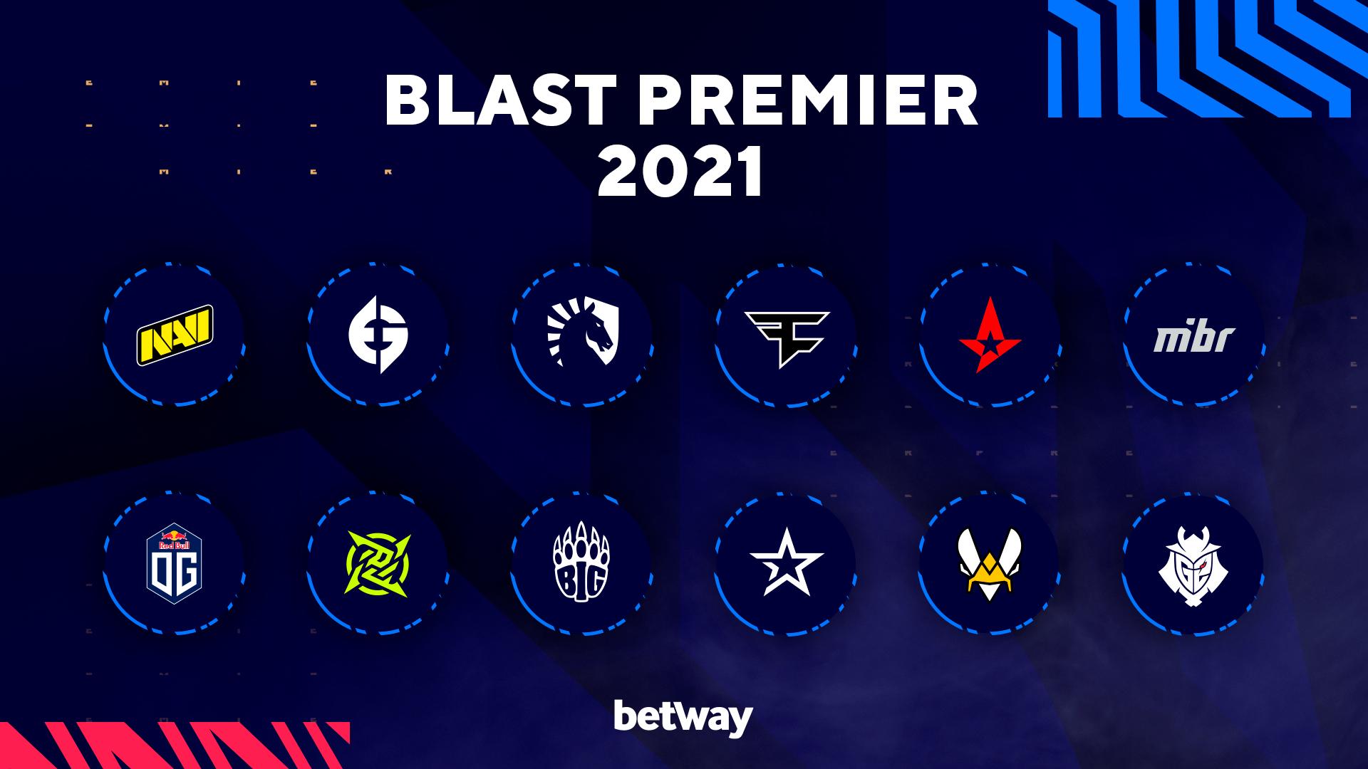 Участники сезона BLAST Premier Spring 2021