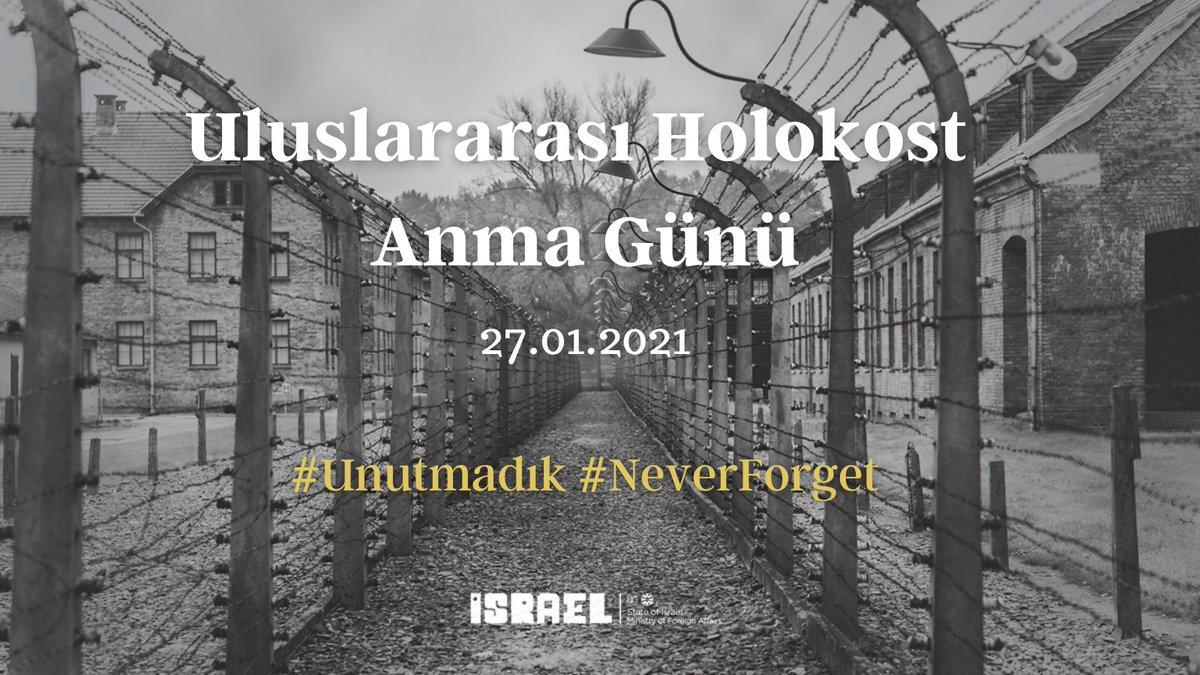 İsrail'in Ankara Büyükelçiliği olarak tüm #Holokost kurbanlarını ve mağdurlarını saygıyla anıyoruz.  #Unutmadık #NeverAgain #WeRemember #UluslararasıHolokostAnmaGünü #InternationalHolocaustRemembranceDay