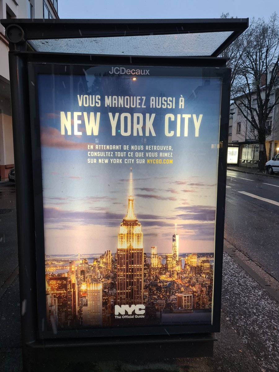 Miss you so... see you asap. Thanks @nycgo @nycgo_press for this beautiful #ads which seems to me like a gift this morning ! #NYC