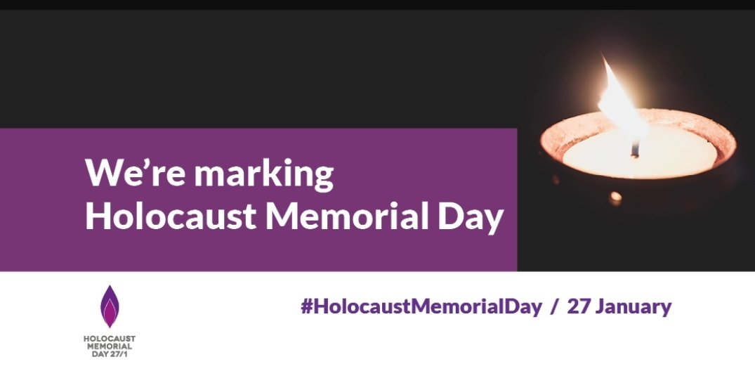 Today is Holocaust Memorial Day. We remember those whose lives were taken in the holocaust & other genocides. We stand united against racism and xenophobia. 🕯#holocaustmemorialday #HMD21 #lightthedarkness https://t.co/21zI4D8lGo