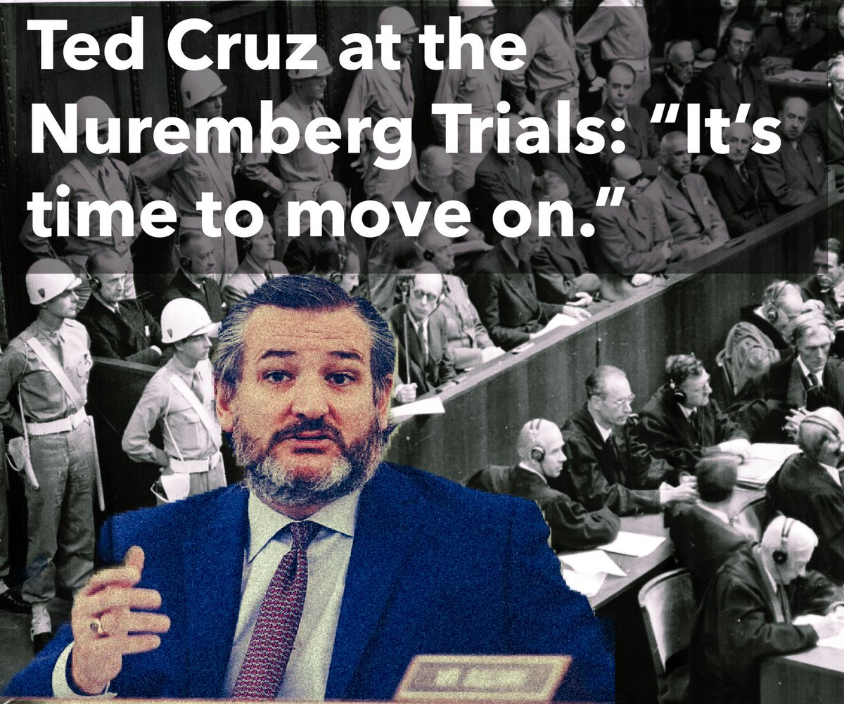 #tedcruz #TedCruzIsTheTypeOfGuyWho would have said it was time to move on when the Nuremberg Trials began
