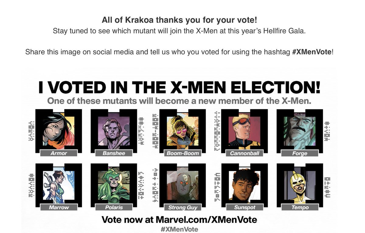 I voted for Polaris, it was a close call because I do love Sunspot and Forge would be a smart choice, Polaris owns my ass #XMenVote