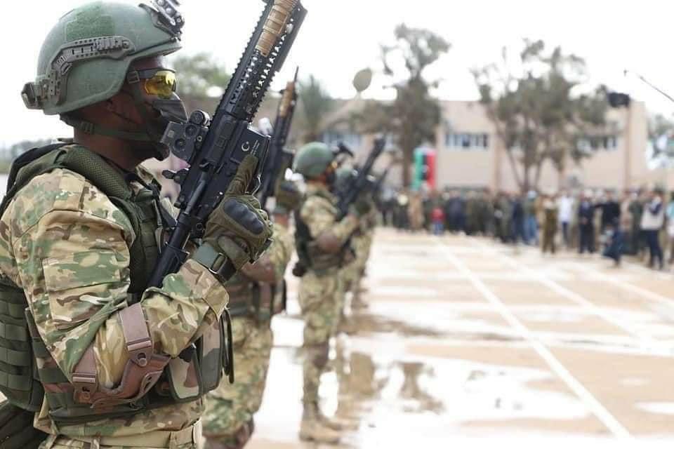 #Libya UMH Kuvvetlerinin MPT-55 Piyade Tüfekleri ile komando eğitimi