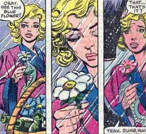 The new member should be Lucy, the woman from Ann Nocenti and Don Perlin's BEAUTY AND THE BEAST mini who could change the colors of objects by concentrating. #XMenVote