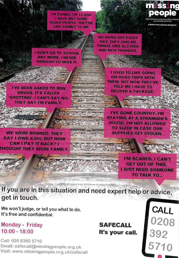 Youth Engagement Officers Across Bromley, Croydon and Sutton work closely with children in crisis. There are partner agencies that also do fantastic work. If you know anyone that could benefit from advise and support without judgement please let them see this post.