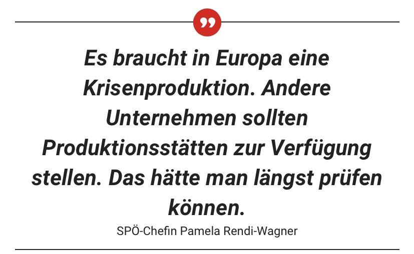 """ein Pharma-Chef, der der EU sagt """"Pech gehabt"""", Lieferengpässe, zu wenig Produktionsressourcen.. Europas Impfpläne stehen Kopf. Deshalb schlägt @rendiwagner eine #Krisenproduktion vor! @SPOE_at @krone_at https://t.co/8CyflR1qZN"""