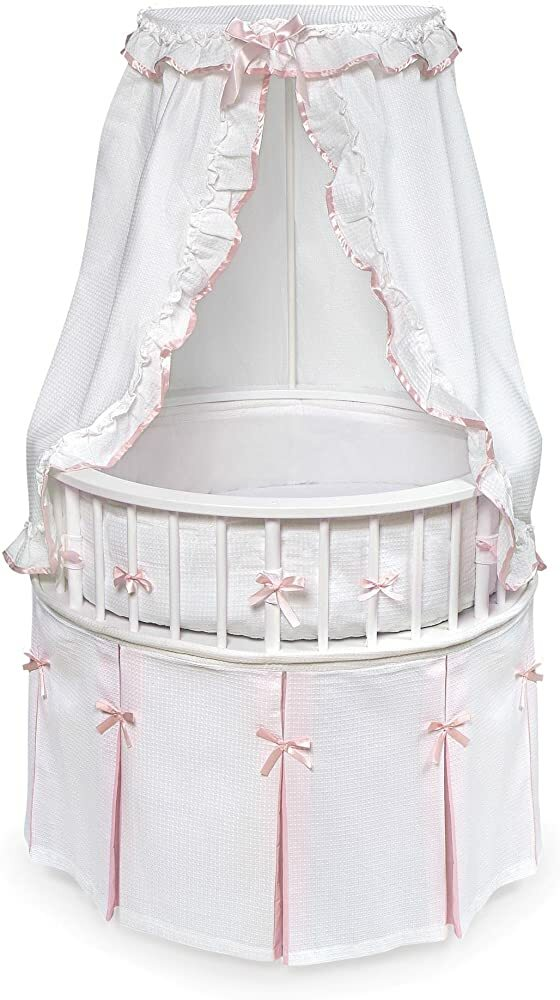 Elegance Round Wooden Baby Bassinet with Bedding, Canopy, and Storage https://t.co/JWcRHnce80 #baby #parenting #family #usa #amazon #trending #fashion #babygirl #babyboy #gifts @amazon #holiday #blackfriday #thanksgiving #cybermonday #primeday https://t.co/W4Mm3wGDME