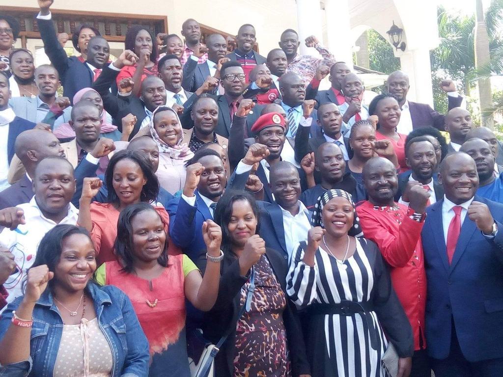"""We are the """"National Unity platform"""". #WeAreRemovingADictator  #freebobicampaignteam  #EndMilitaryKillingsInUganda #ThePresidentElect @HEBobiwine"""