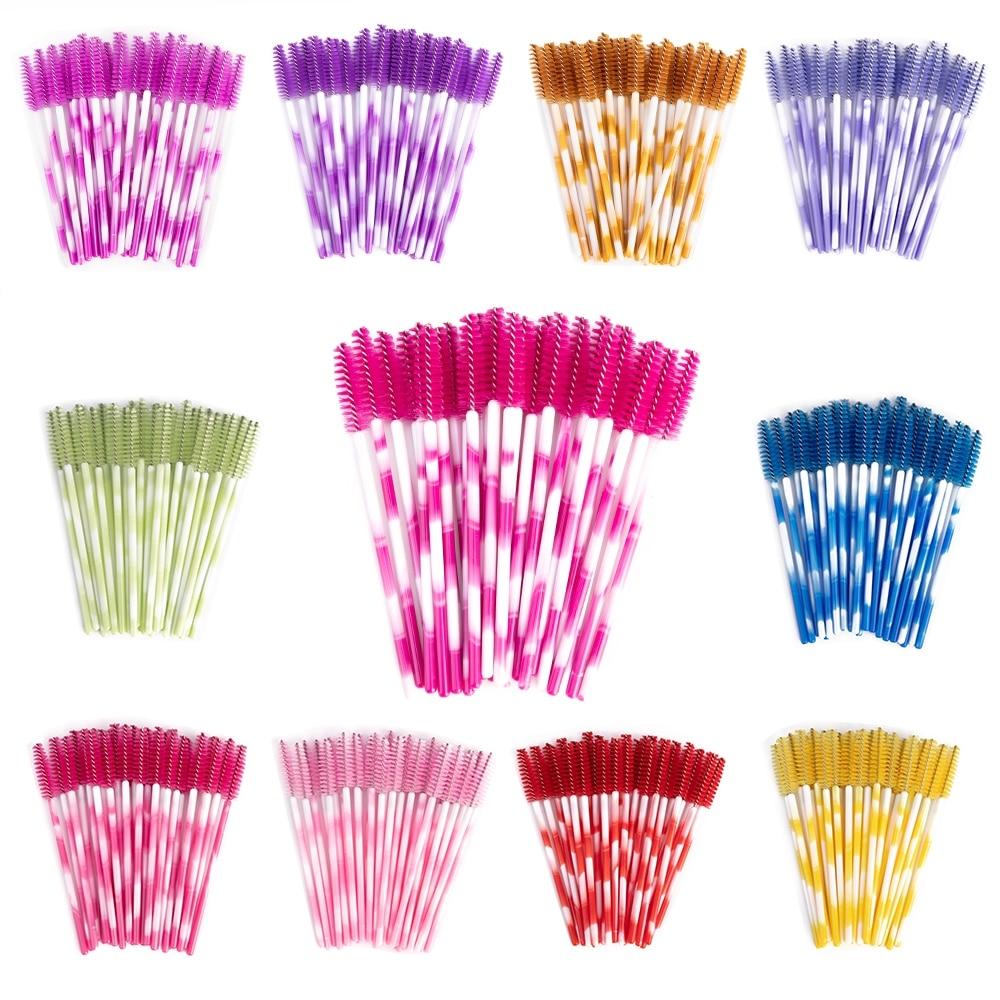 Colorful Disposable Eyelashes Brushes 50 pcs Set #style #girl #pretty