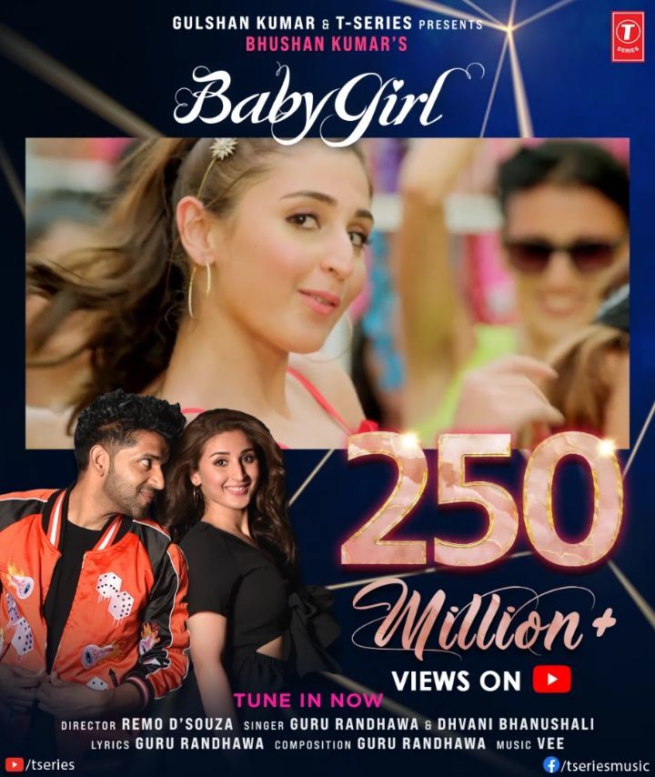 #BabyGirl continues to paint the town all pink! Keep grooving non- stop as its 254M views and counting on YouTube for our favourite dance party number.   #tseries #BhushanKumar @GuruOfficial @dhvanivinod @officialvee @remodsouza ⤵️🎈🎉🎈🎧