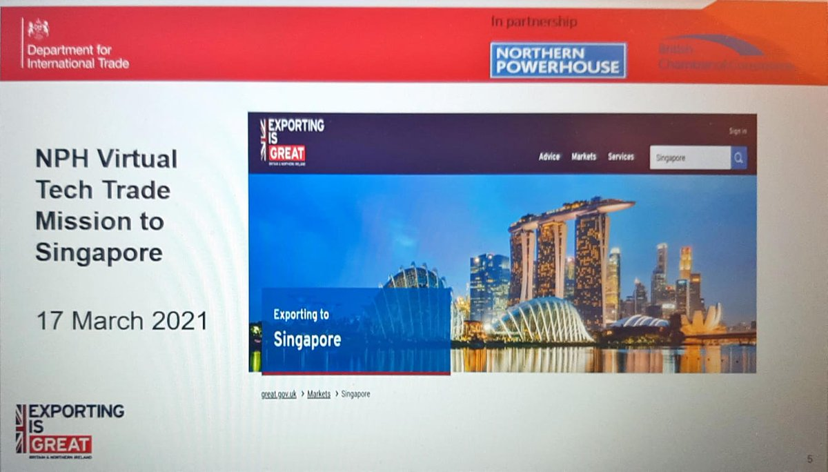 If you are a northern company who is in the #digital or #tech sectors and are interested in #Singapore  join us on our virtual trade mission  Sign up at events@tradenw.org @Philomena_Chen @tradegovuk_NW @tradegovuk_YH @tradegovuk_NE