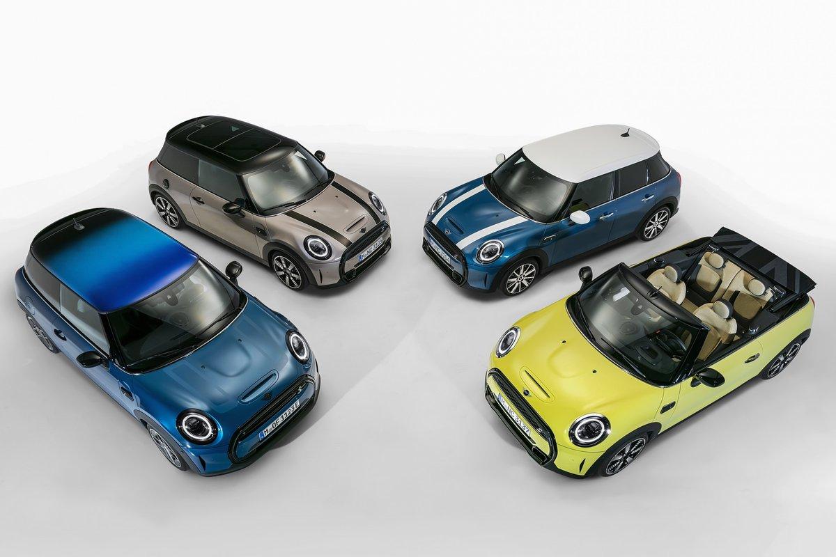 #MINI 2021: svelato il restyling delle versioni 3 porte, 5 porte e Cabrio [FOTO]  #motorionline #MiniCooper