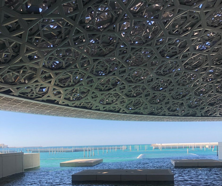 The Iconic Louvre Abu Dhabi is the first universal museum in the Arab World that opens and displays the artwork of historical, cultural, and sociological significance between cultures. #gromaxxae #inabudhabi #visitabudhabi #travelers https://t.co/O1a8bATXgy