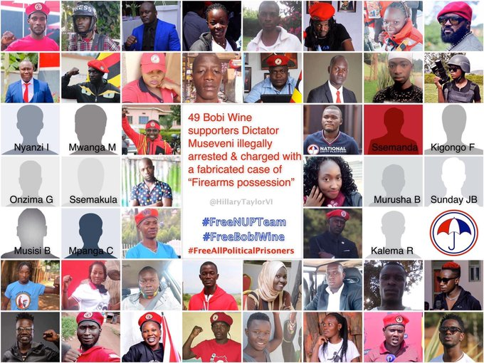 Many @NUP_Ug supporters are unlawfully incarcerated, tortured, murdered by Museveni's regime because they stood with our President-Elect @HEBobiwine to fight against the oppression. The International community should investigate this matter. #FreeNUPTeam #WeAreRemovingADictator