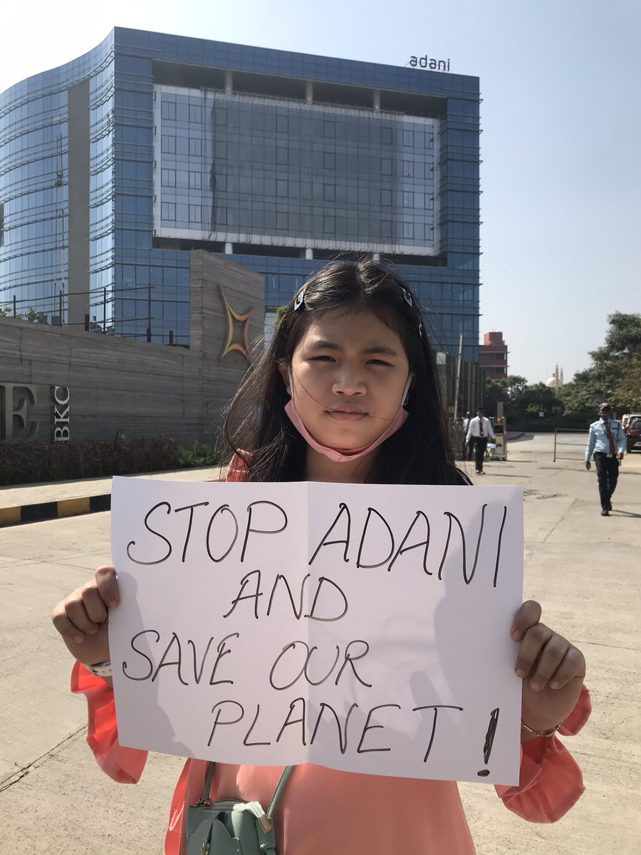 Stop Adani & Save our planet.  @AdaniOnline   #StopCoalMining #StopDestroyingOurForest #StopBreakingOurPlanet #StopRuiningOurFuture #StopGreenWash https://t.co/VF6C3J4GxY