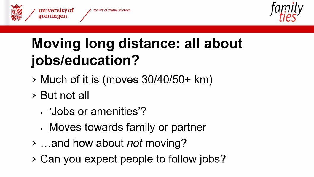 Do people move for #jobs or #family or #amenities...?    New research is published in our new Insights 2021 publication @FRW_RUG @univgroningen #insightslaunch #intergenerational  #newjob @UKDataService @ESRC