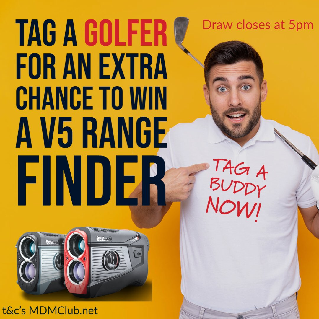 Last chance to #win a @BushnellGolf range finder for #free All you need to do is #tag a fellow #golfer to be in with a chance of #winning  #golf #win #dailytweet #golfers #algarve #portugal #fun