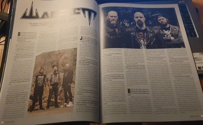 Got the @screammagazine issue with an awesome two page feature including an interview with Kris!!?  #warfect #thrash #thrashmetal #uddevalla #uddevallabayarea #spectreofdevastation #napalmrecords #review #screammag #screammagazine #kriswallstrom #interview #feature