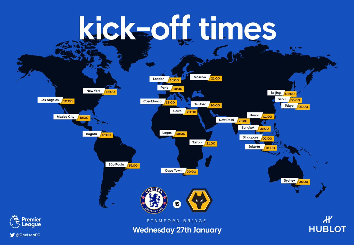 The first match of the Thomas Tuchel era... but where will you be watching? 🌏 #CHEWOL