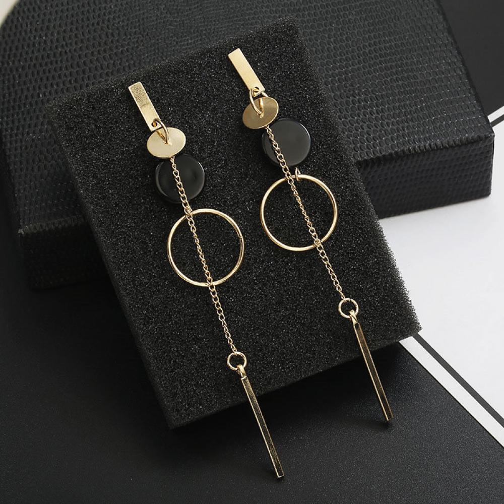 Korean Fashion Long Geometric Earrings  #deal #style #bestshopping #shoppingdaily #worldsales #shopping #onlineshopping