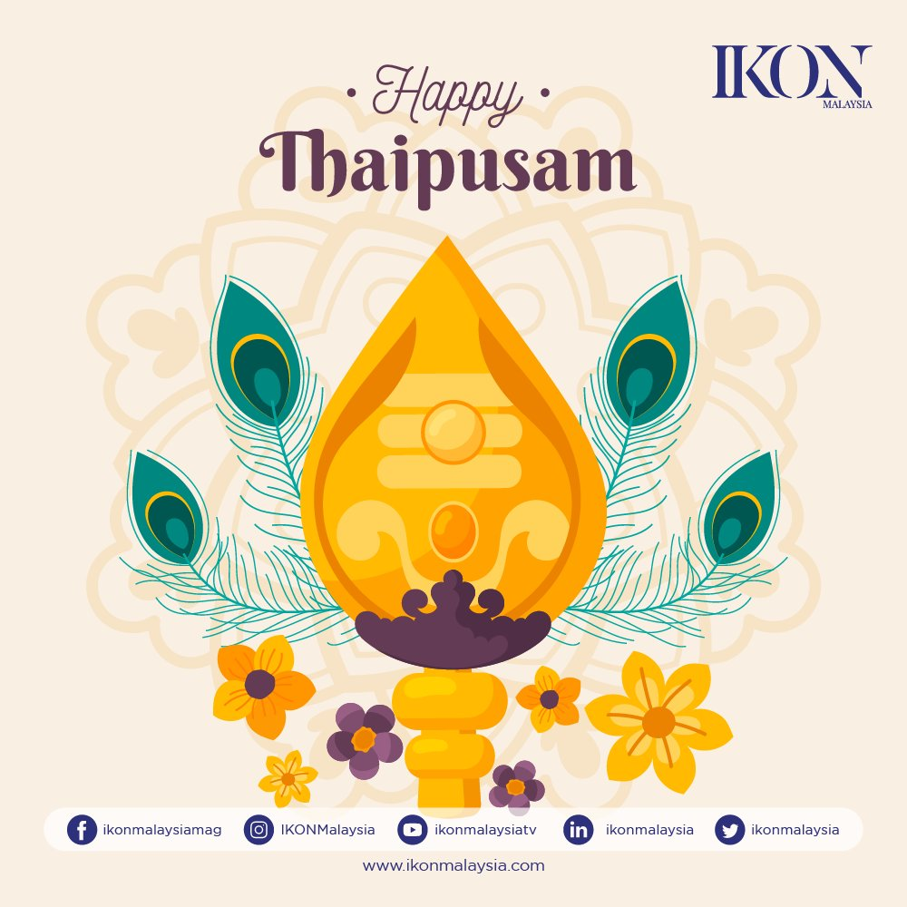 IKON Malaysia wishing all Hindus who are celebrating Thaipusam have a Happy Thaipusam and Happy Holiday! May you all be blessed with overflowing happiness, success, and prosperity on this coming special festival. Take care and stay safe.  #thaipusam #family  #love  #holiday