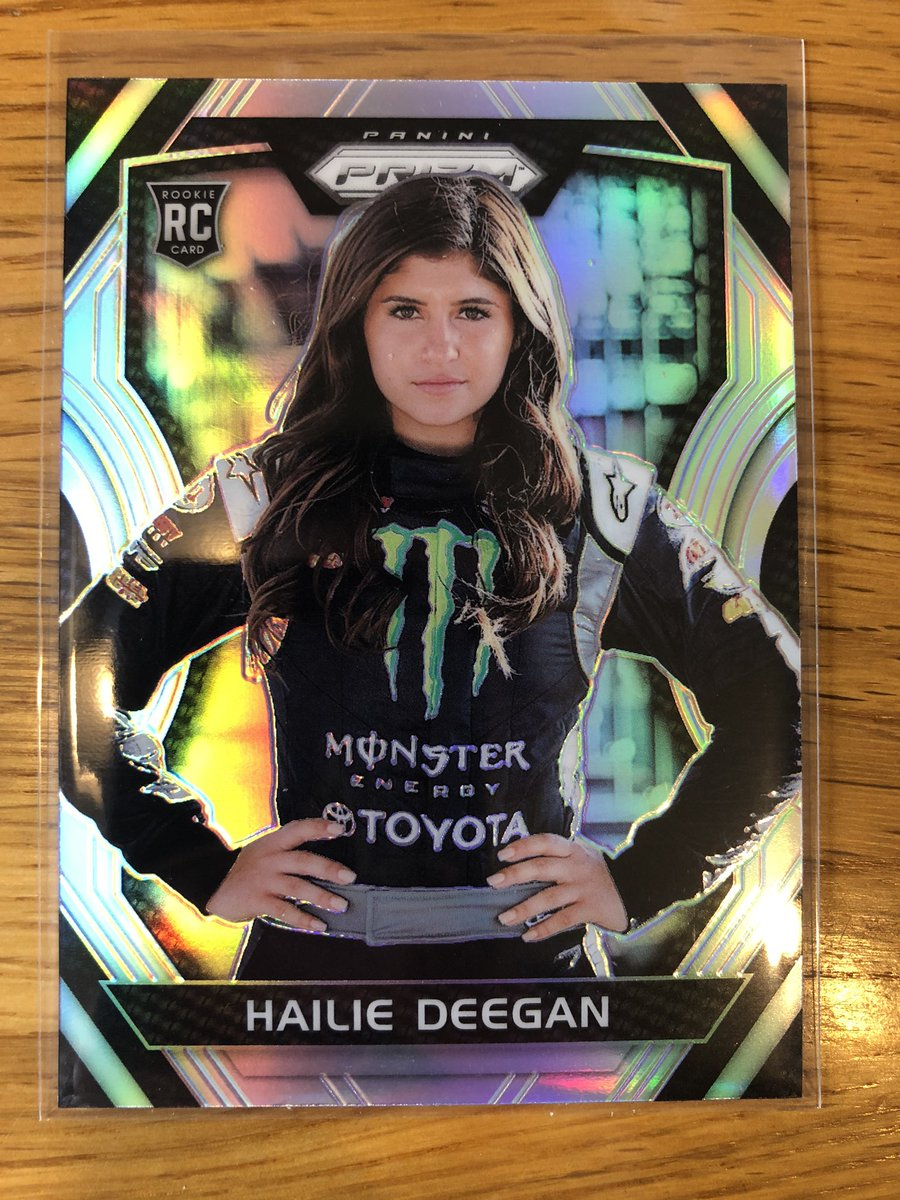 @midwestboxbreak @PhilsPulls 2018 Hailie Deegan Prizm Silver Rookie Card. One small surface dot on front and bottom corners very slight white. $175. PP G&S. https://t.co/YwXnMEGvba