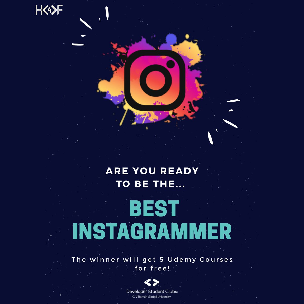 Here we come for the ,Best Instagrammer Competition. First time ever, @DCvrgu, organises best Instagrammer Competition,join with us and win prizes. https://t.co/ns2n4Awrc8 #dsc  #dsccvrgu  #udemy  #hack  #hackforfun  #googledevelopers  #google  #developerstudentclubs  #developer https://t.co/YsILBAJ7Bs