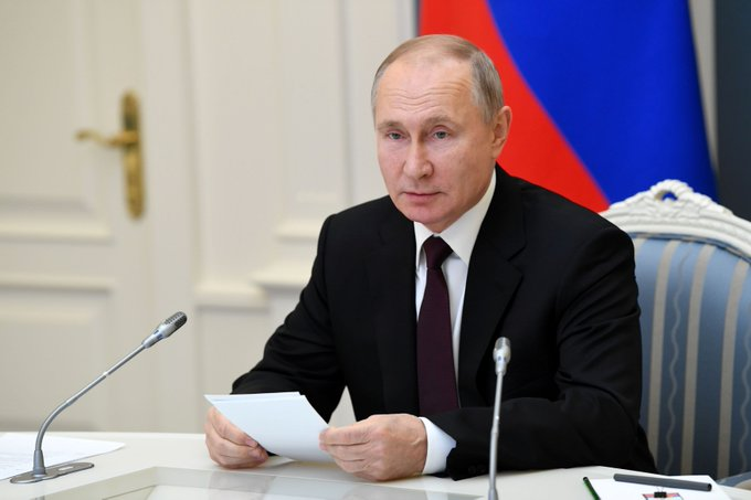 Watch Putin speak at Davos amid outcry over Navalny detention Photo