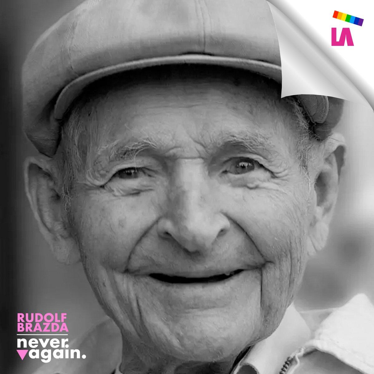 #𝐑𝐮𝐝𝐨𝐥𝐟_𝐁𝐫𝐚𝐳𝐝𝐚 (1913 - 2011) 🔻🌈 #ThelastPinkSurvivor +Info:  _____ #HolocaustRemembranceDay #HolocaustMemorialDay #HolocaustGedenktag  #27Enero