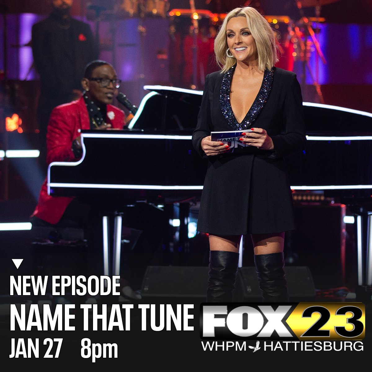 Make a note to catch Bid-A-Note on a new episode of #NameThatTune with #RandyJackson and #JaneKrakowski -- tonight at 8 on #MyFOX23 WHPM.