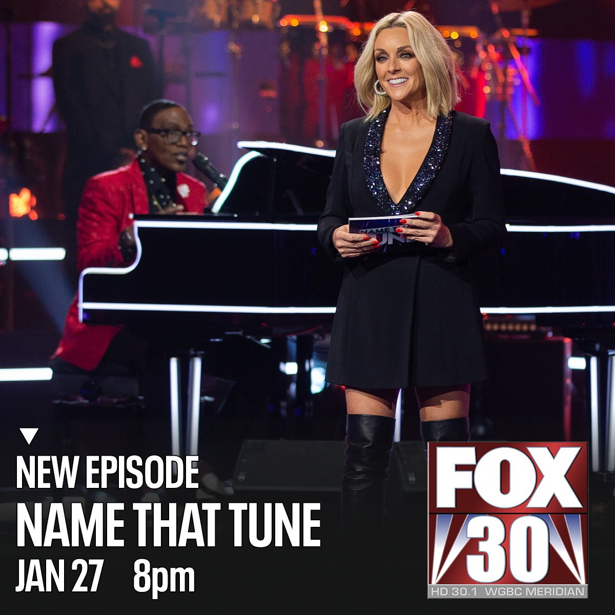 Make a note to catch Bid-A-Note on a new episode of #NameThatTune with #RandyJackson and #JaneKrakowski -- tonight at 8 on FOX30 WGBC.