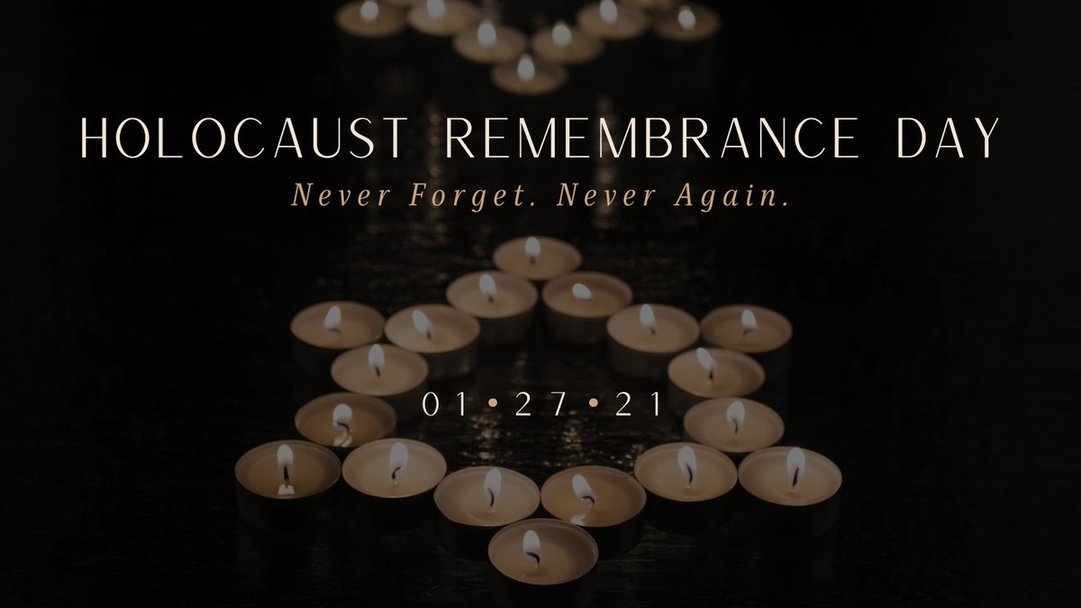 On #HolocaustRemembranceDay, we remember the Jewish people and the millions of victims lost to Nazi atrocities. We commit to #neverforget and vow #neveragain.