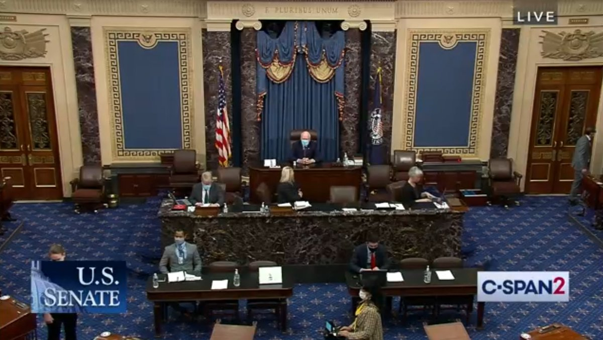 .@SenatorLeahy is back in the chair.