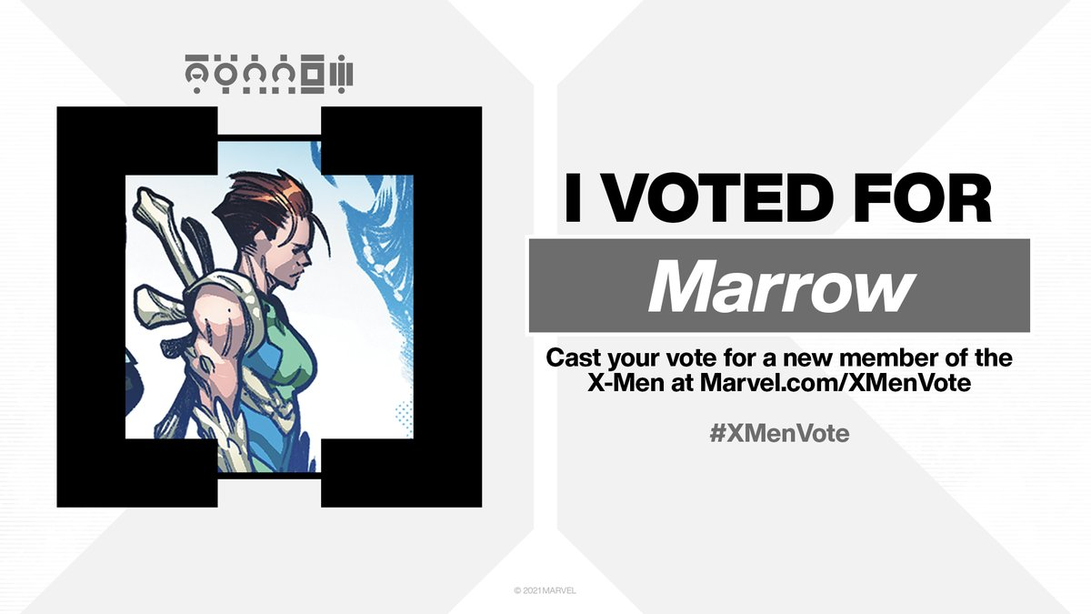 I voted! #VoteMarrow #XMenVote