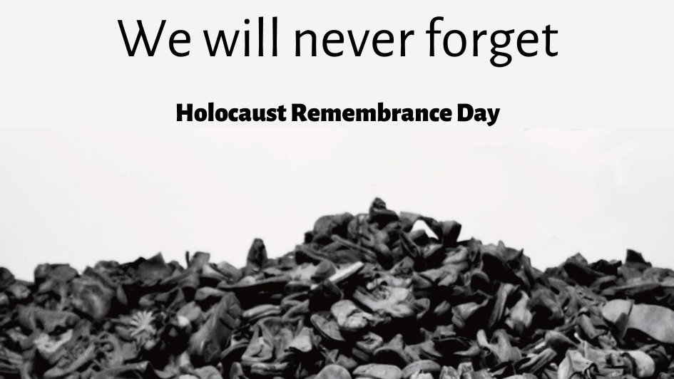 Today is International #HolocaustRemembranceDay, the anniversary of the liberation of Auschwitz-Birkenau.  We remember the six million Jewish victims of the Holocaust and reaffirm our commitment to fight anti-Semitism. When we say #NeverAgain we mean #NeverAgain. #WeRemember