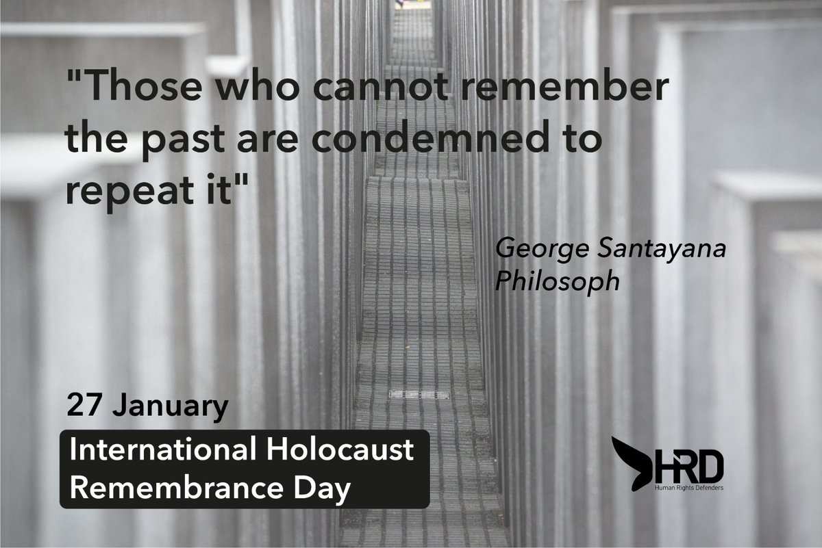 """🕯27 January - International Holocaust Remembrance Day  """"Those who cannot remember the past are condemned to repeat it""""   #WeRemember #HolocaustGedenktag  #HolocaustRemembranceDay"""