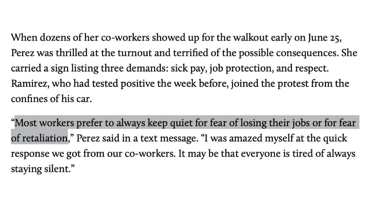 By far the most egregious & widespread threats to free speech in the US come from employers who punish workers for talking about unionization or workplace safety. Strangely, however, there are no handwringing letters in Harpers about this. motherjones.com/politics/2020/… by @julie_lurie