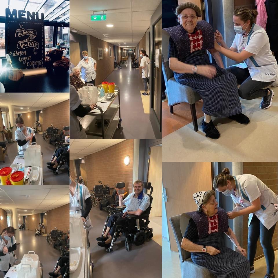 Alle bewoners van Zorg-en wooncentrum De Haven in Bunschoten-Spakenburg zijn inmiddels gevaccineerd tegen #Corona #COVID19 Het verzorgingshuis is trots op het vaccinatieteam, laat men weten op #Facebook en #instagram