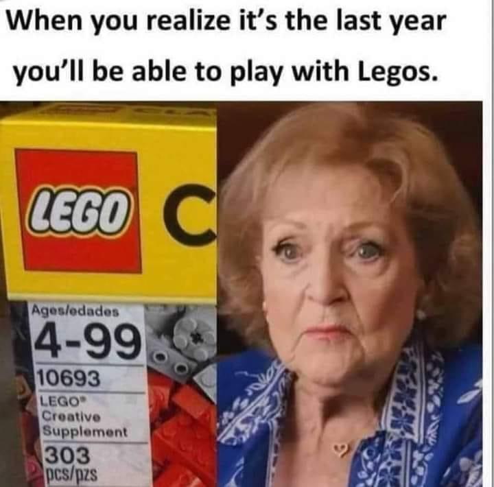 #BettyWhite #Legos