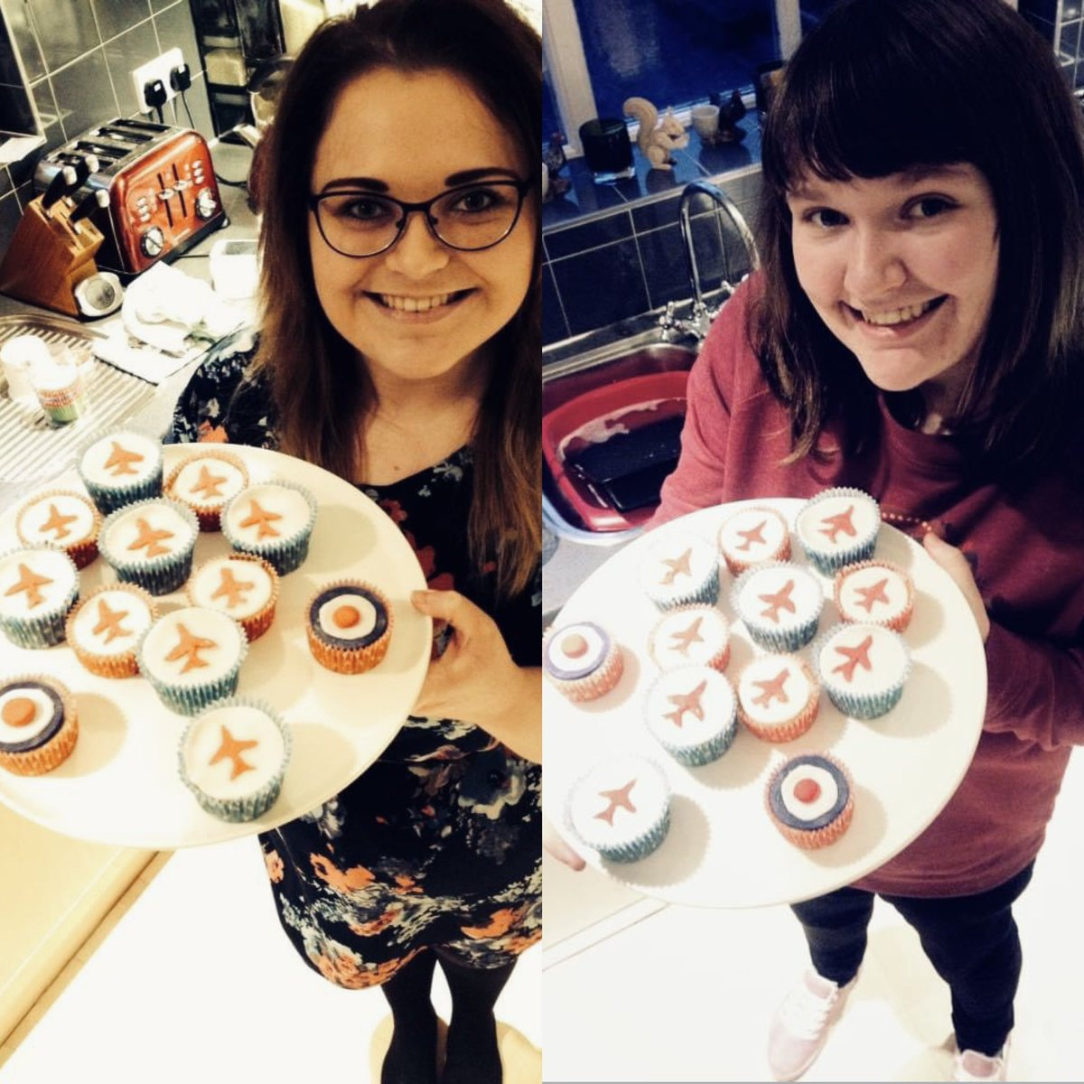 Missing times like these at the mo... my bestie @mustbesung had popped over to cheer me up, so we whipped up some Red Arrows cupcakes!🙈 Can't believe this was 6 years ago matey... let's bake something awesome when we can finally meet up again!☺️♥️ #WednesdayMotivation #RedArrows