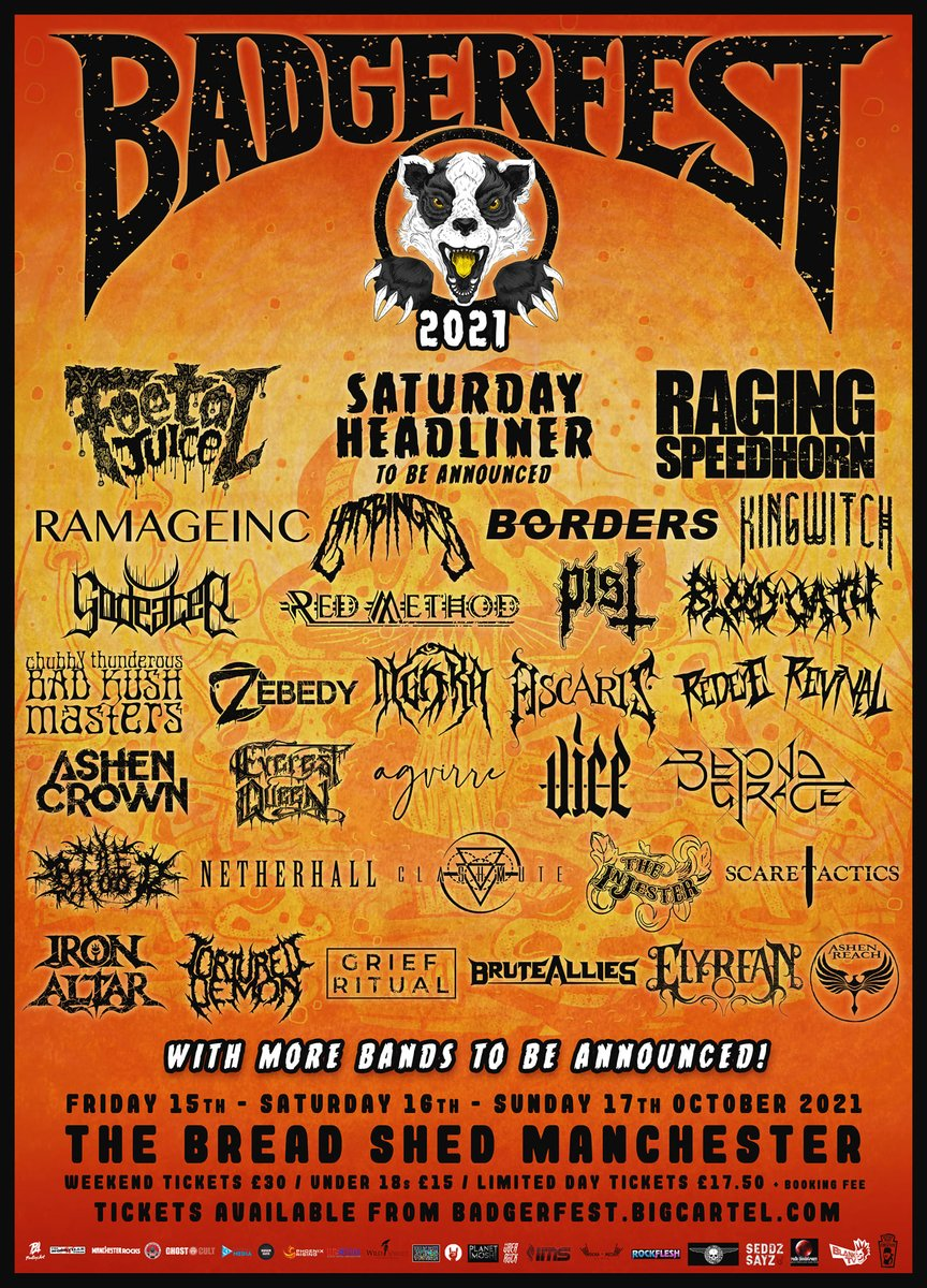 This may seem like a long way off still, but it's good to have something to look forward to!  New additions to the Badgerfest line-up include King Witch, The Injester, Grief Ritual, and BruteAllies.  #badgerfest #badgerfest2021 #metal #thrash #livemusic #thrashmetal #deathmetal