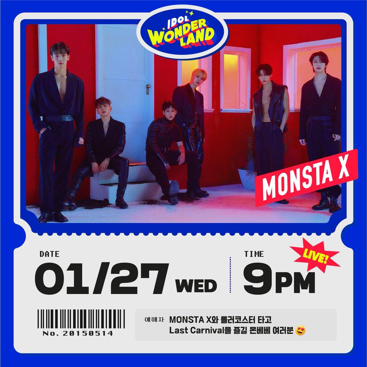📢 210127 #몬스타엑스 #Seezn #아이돌원더랜드  잠시 후, 오후 9시! 'Seezn(시즌) APP'을 통해 함께해요 🥰  #MONSTAX #MONSTA_X #IDOL_WONDERLAND  ▶️