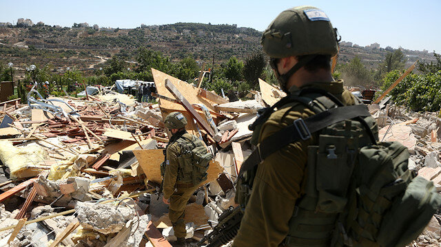 Israeli army razes several structures in West Bank Photo