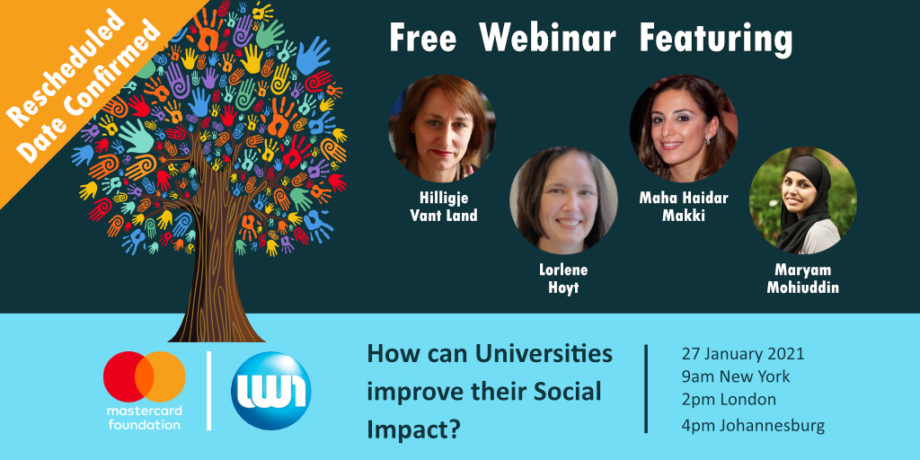 "It's not too late to register to attend our free #webinar ""How can Universities improve their #SocialImpact?""   Click below to register now and we'll see you at 2pm GMT."