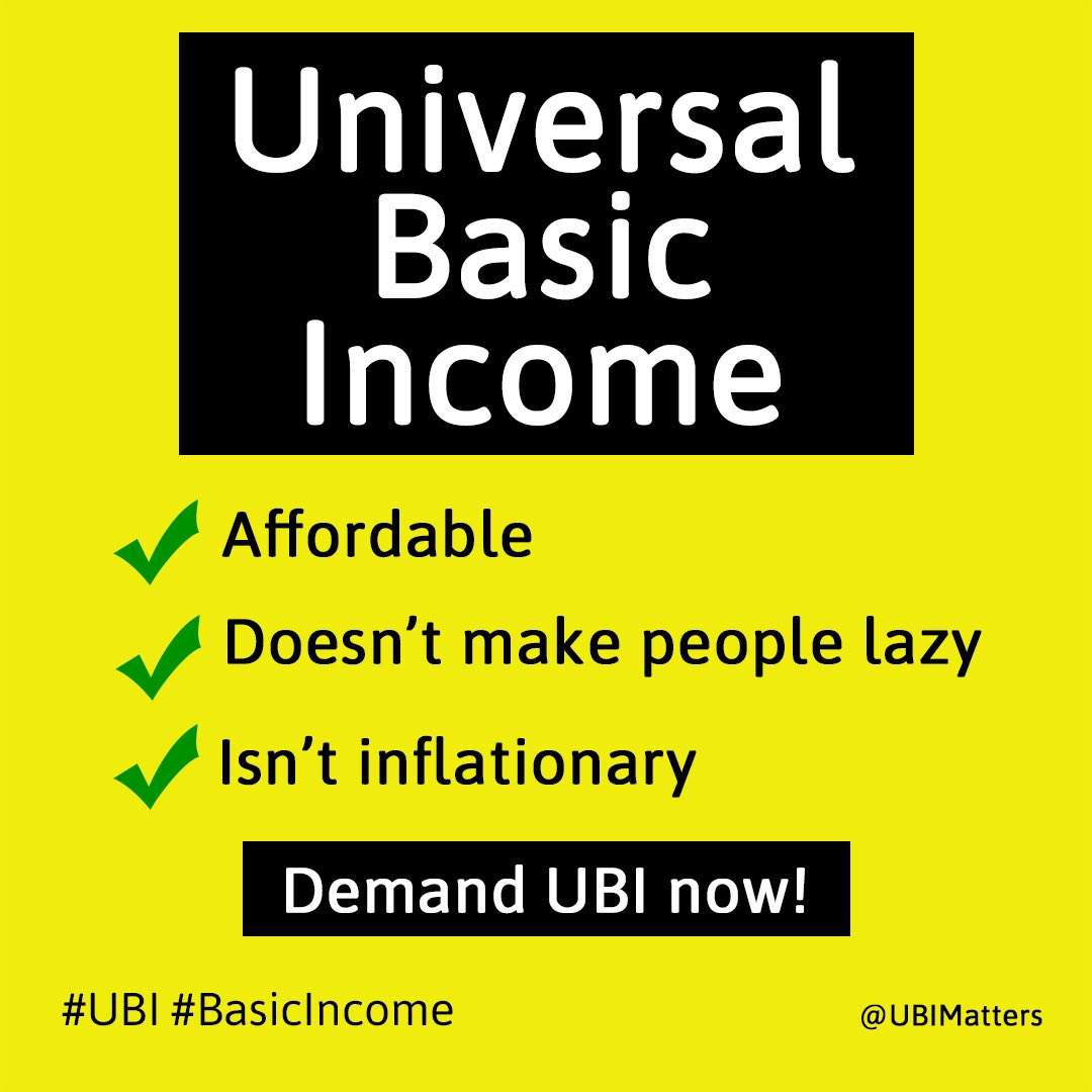 #UBI : affordable, doesn't make people lazy & isn't inflationary. 👍🏻