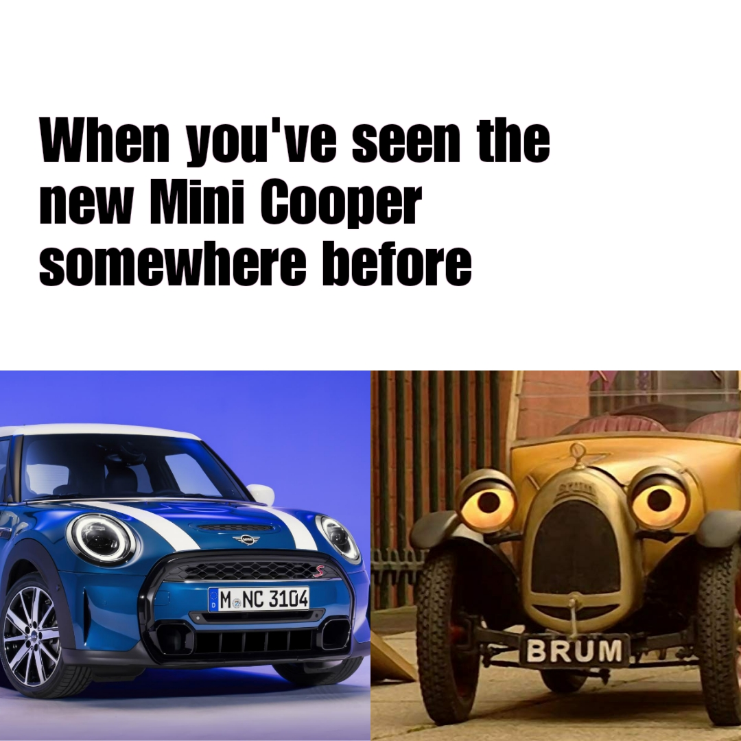 I mean the resemblance is uncanny 😂🚗 #trackdays #minicooper #brum
