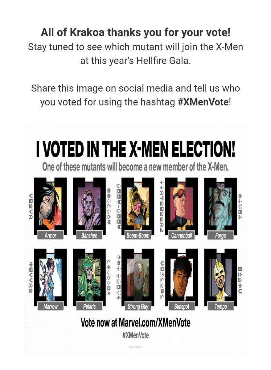 Et voilà je viens de voter ! Je trouve le principe vraiment bien ! #XMenVote