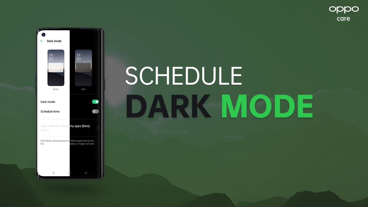 Dark more or light mode? ⌛ If you can't choose -  set up a schedule!  Go to [Settings] > [Display & Brightness] >  [Dark mode] > Schedule time  Which mode do you prefer?  ◼️ Vote for dark mode  ◻️ Vote for light mode   #OPPOCare #OPPO