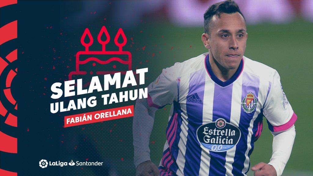 🥳🎂 Selamat ulang tahun untuk Fabián Orellana, pemain asal Chile dengan pertandingan terbanyak di sejarah LaLiga sejauh ini! 🌟🇨🇱  #LaLigaHistory #LaLigaSantander
