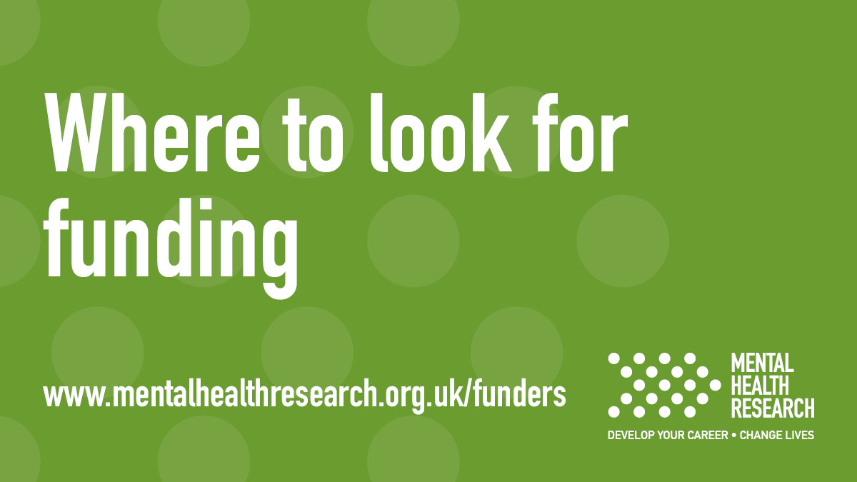 Aspiring clinical and non-clinical #mentalhealth researchers need to find out about #research #funding opportunities relevant to them. Can you help us share them? Let us know as you hear of good opportunities! :)